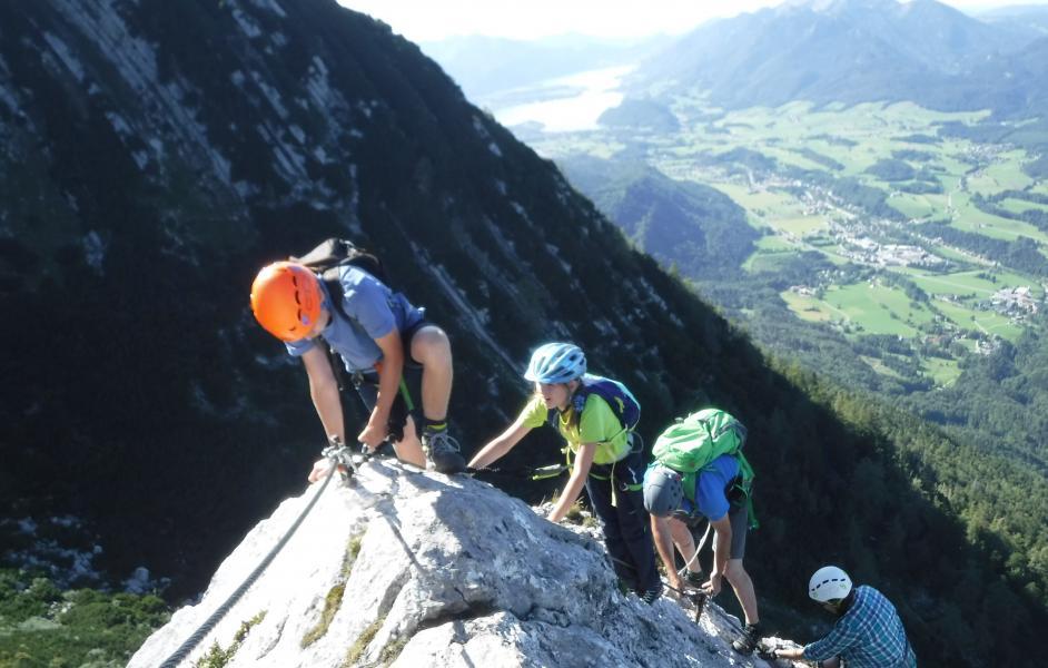 Klettern am Wolfgangsee